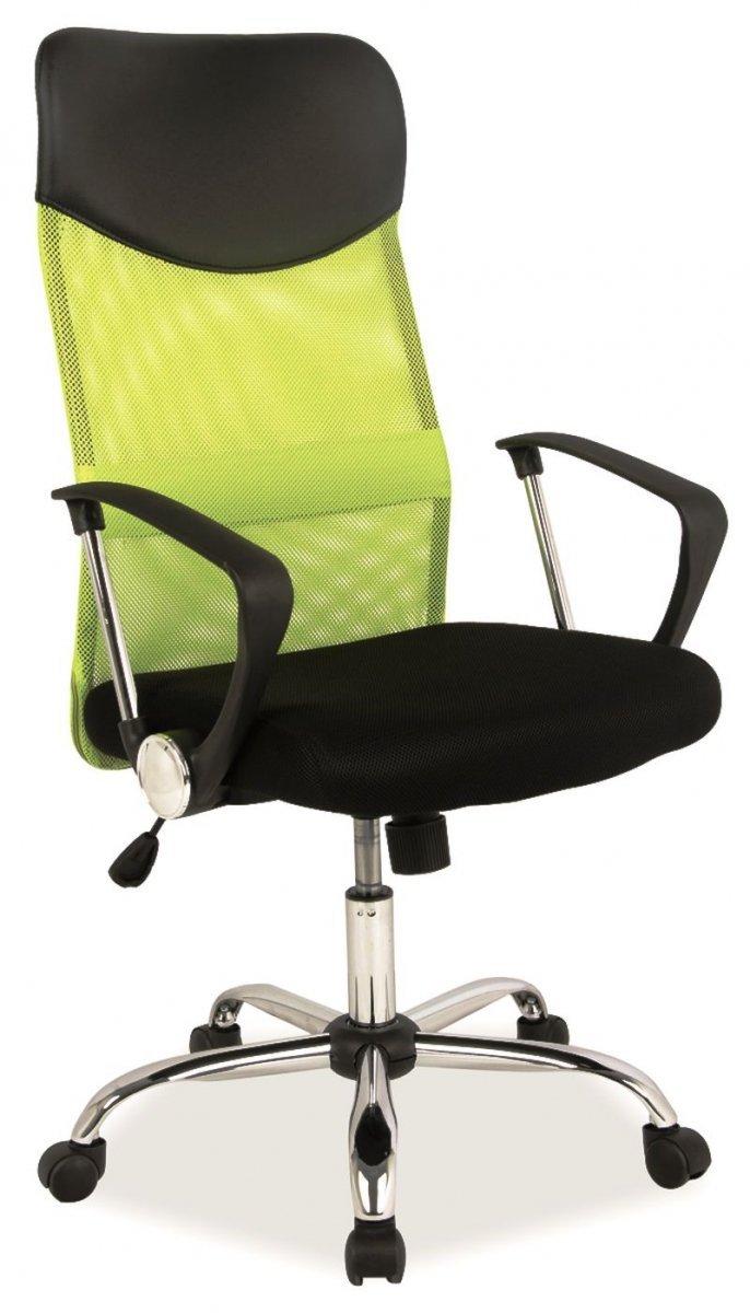 Fotel obrotowy Q-025 zielony/czarny