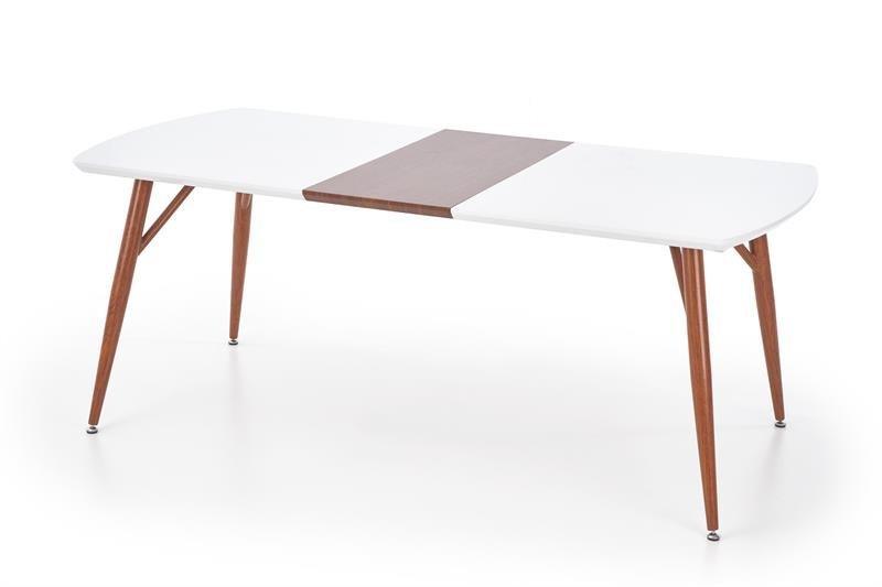 Stół rozkładany RICHARD biały/czereśnia antyczna