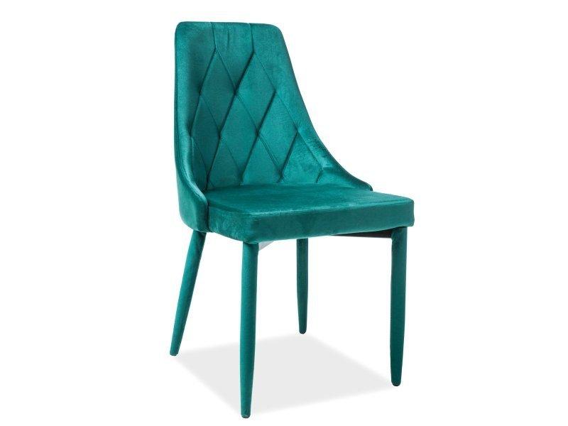 Krzesło TRIX VELVET zielone