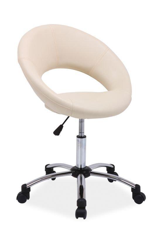 Fotel obrotowy Q128 kremowy