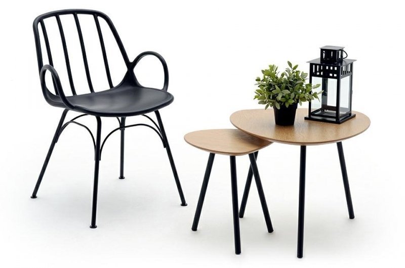 Krzesło CASTERIA czarne