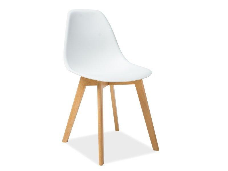 Krzesło MORIS buk/biały