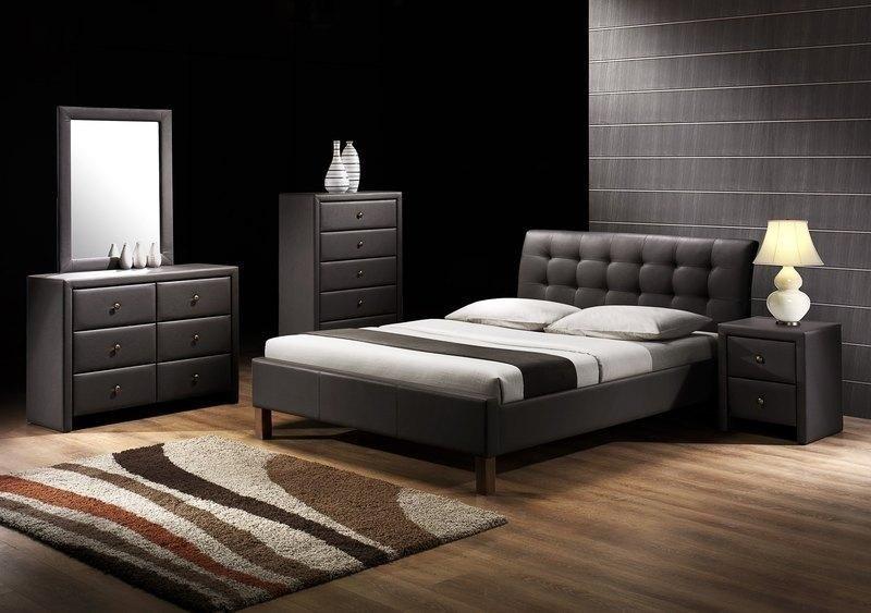 Łóżko SAMARA 160x200 czarne