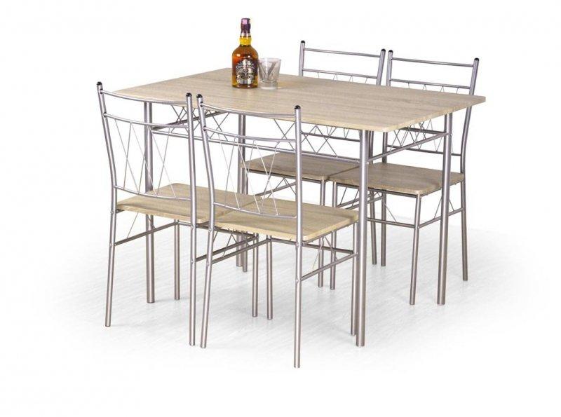 Zestaw FAUST stół + 4 krzesła dąb sonoma