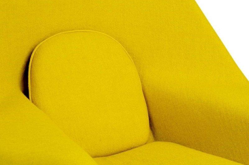 Fotel COZY z podnóżkiem musztardowy