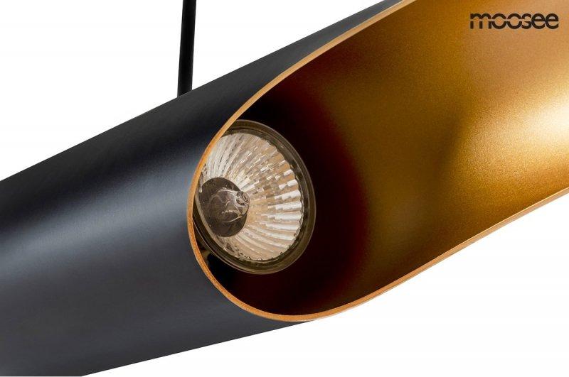 Lampa wisząca CONTEO czarno-złota