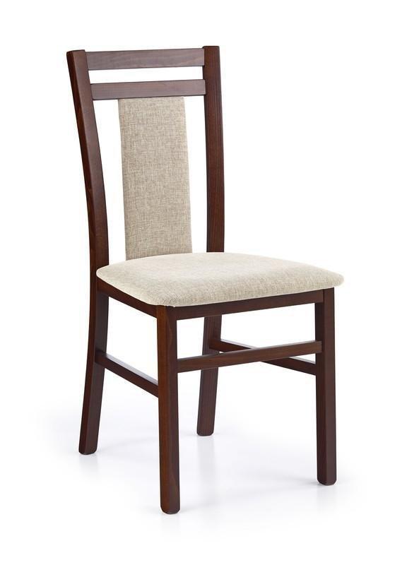Krzesło HUBERT8 ciemny orzech/vila 2