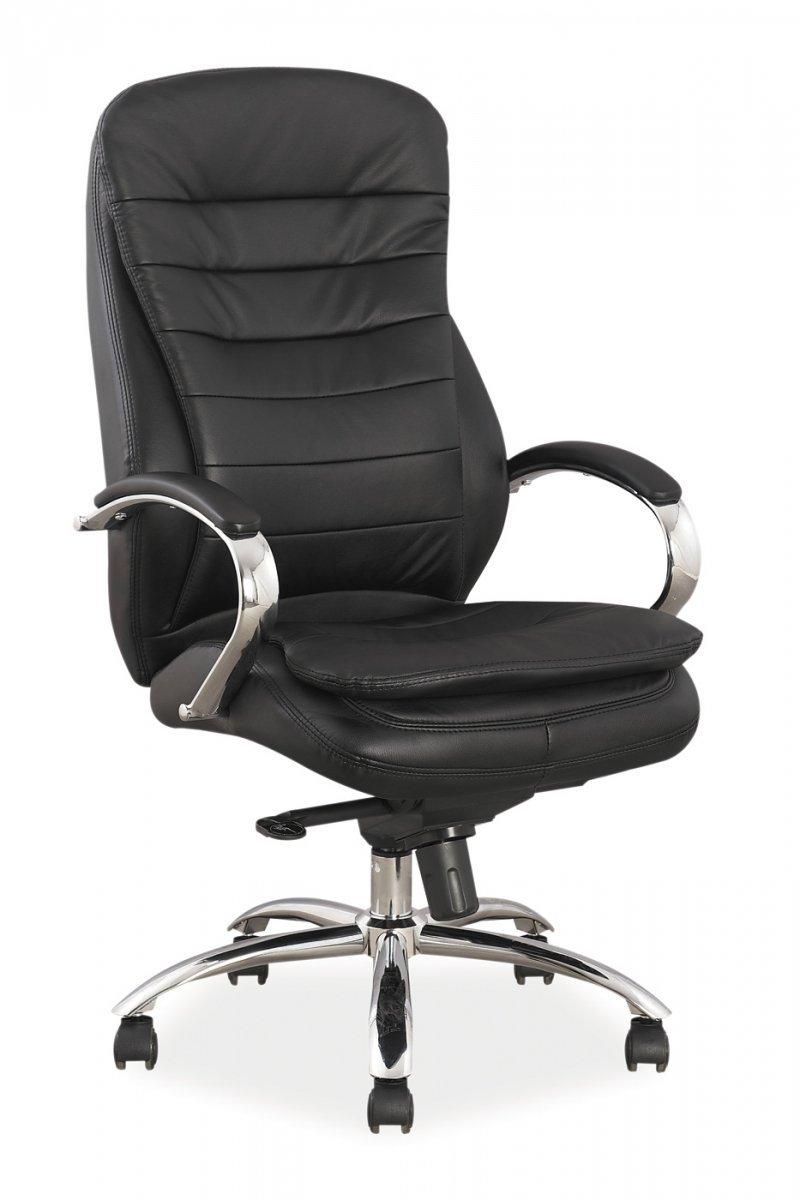 Fotel gabinetowy Q154 czarny skóra