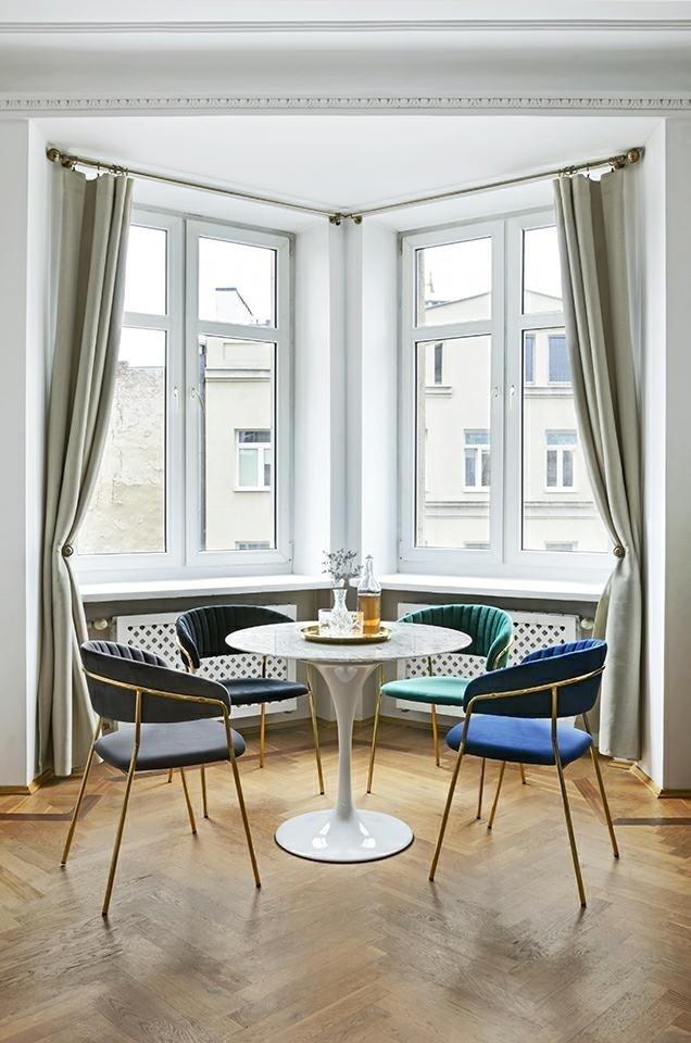 Krzesło MARGO ciemno zielony/złoty