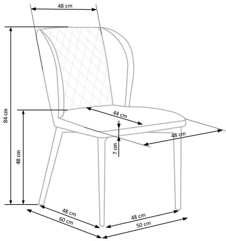 Krzesło K399 VELVET wymiary
