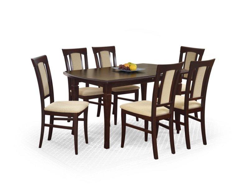 Stół rozkładany FRYDERYK (160x240) ciemny orzech