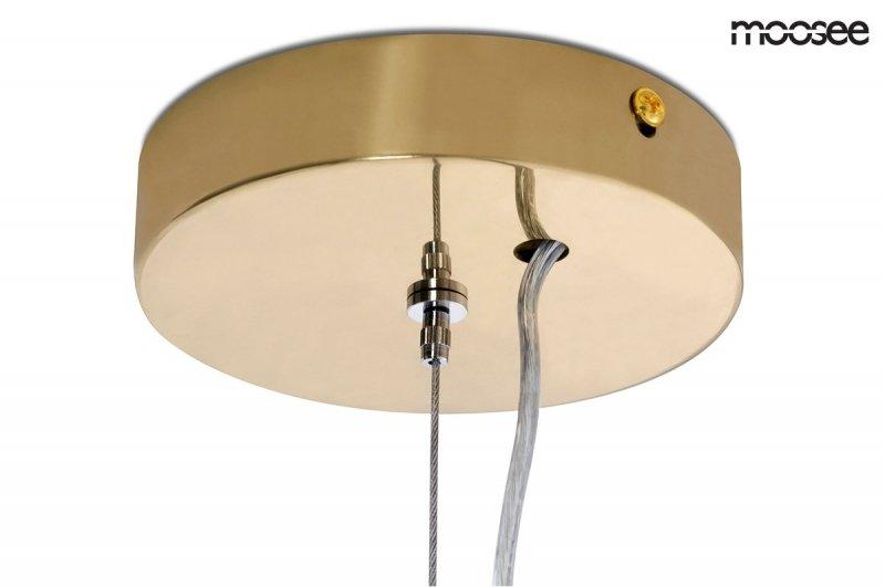 Lampa wisząca HALO zlota-alabaster