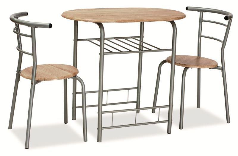 Zestaw GABO stół + 2 krzesła dąb sonoma