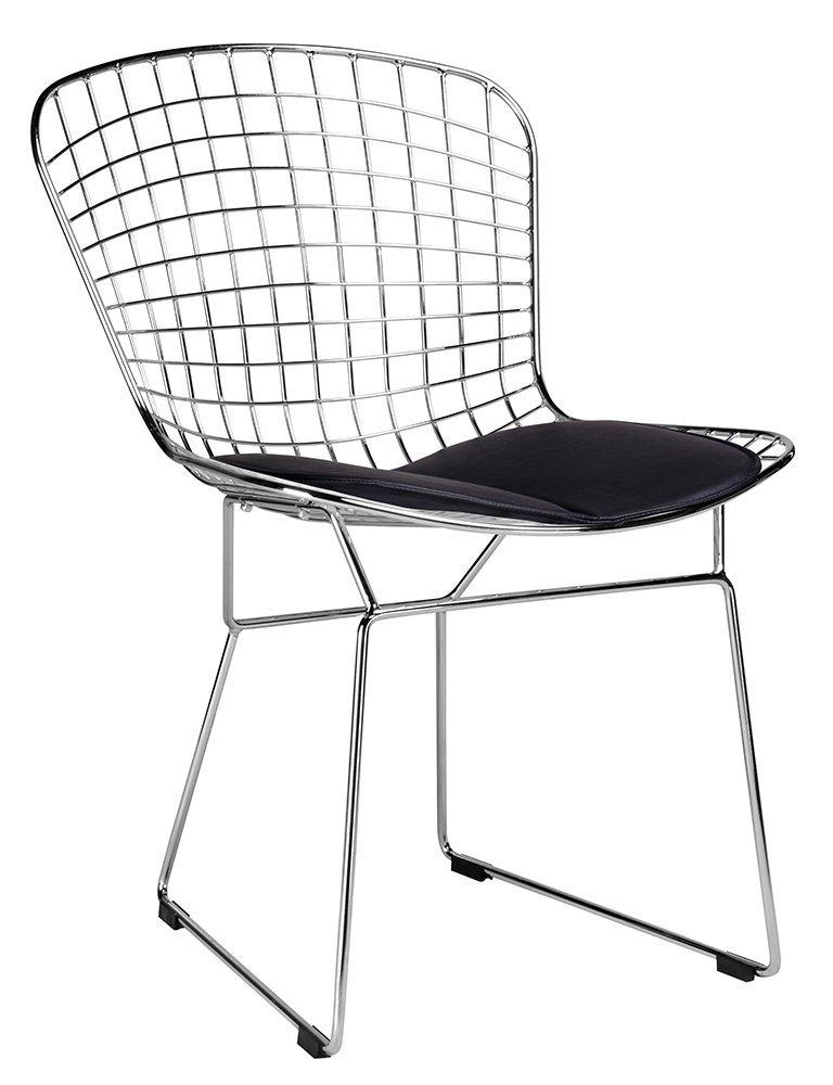 Krzesło NET SOFT chrom/czarna poduszka