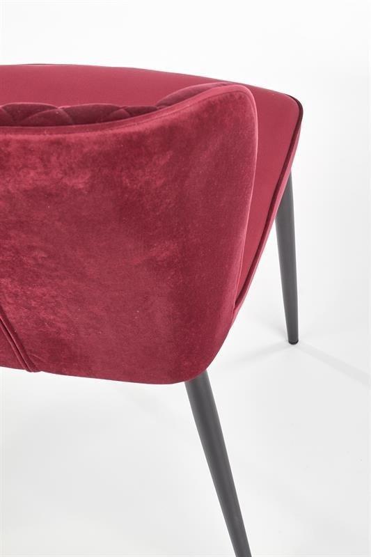 Krzesło K399 VELVET bordowe