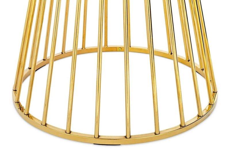 Stół okrągły GLAM WALNUT orzech/złoto