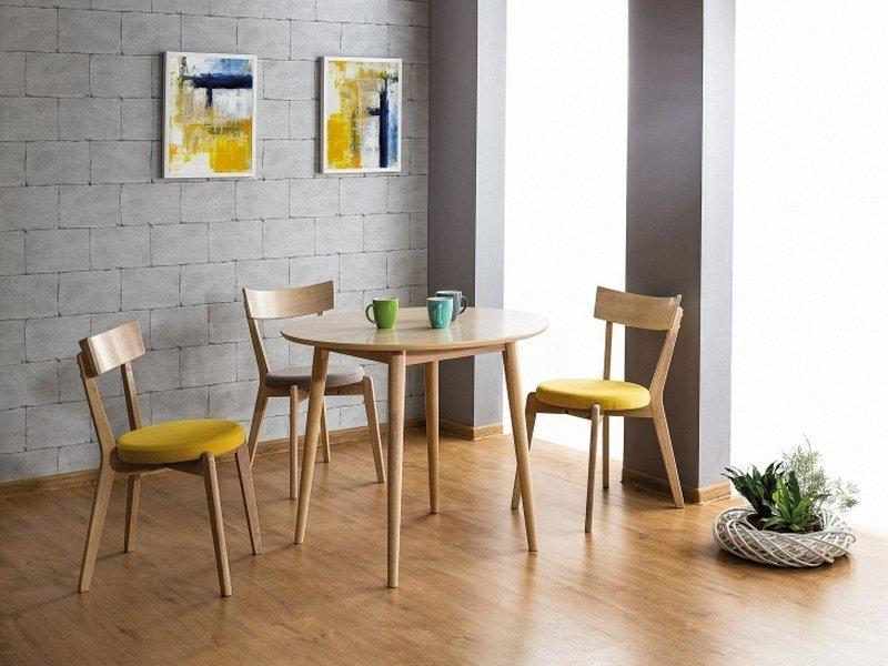 Krzesło NELSON dąb miodowy/szary aranżacja