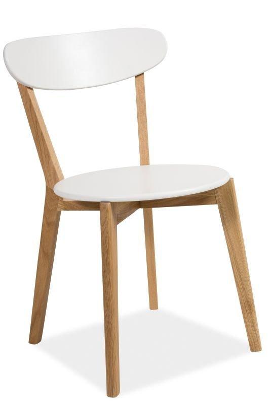 Krzesło MILAN białe-dąb