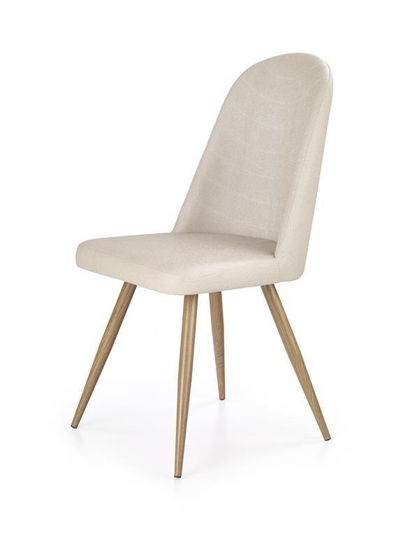 Krzesło K214 ciemny krem/dąb miodowy
