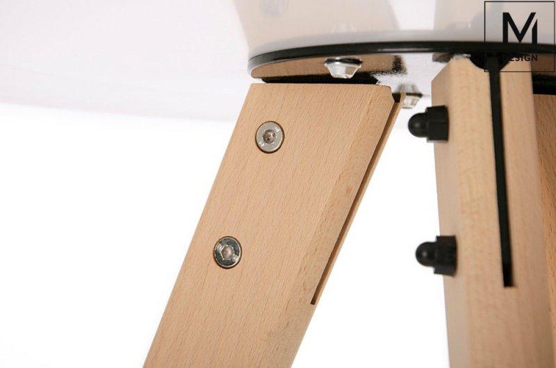 Stół TRIPOD FI 60 biały/buk