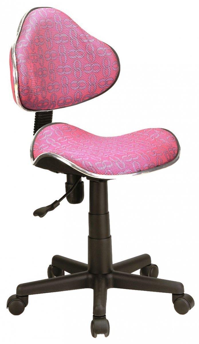 Fotel obrotowy Q-G2 różowy wzór