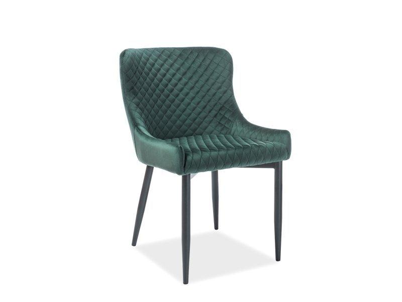 Krzesło COLIN VELVET zielono-czarne