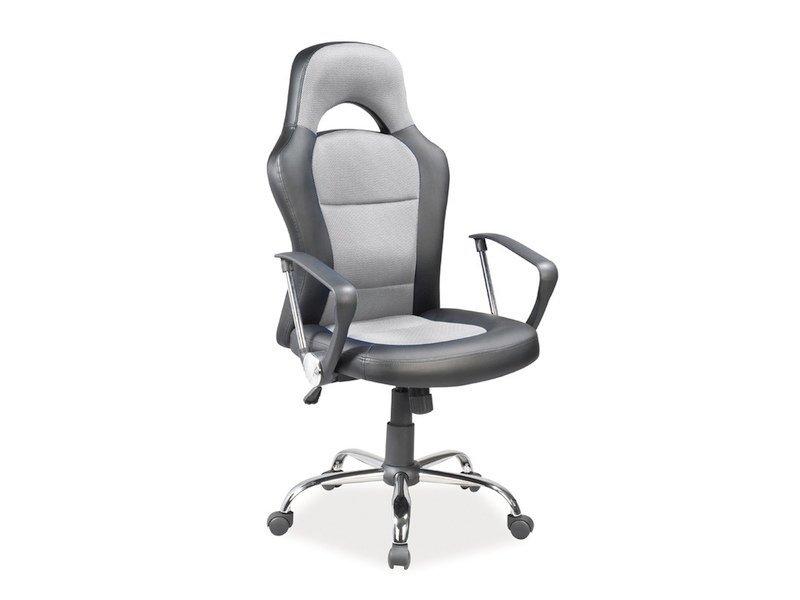 Fotel obrotowy Q-033 szaro-czarny