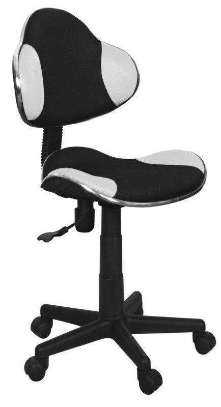Fotel obrotowy Q-G2 czarno-biała tkanina