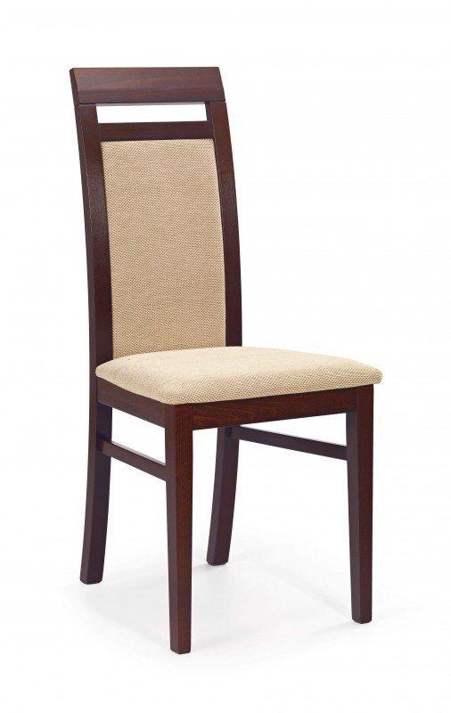 Krzesło ALBERT ciemny orzech/beż