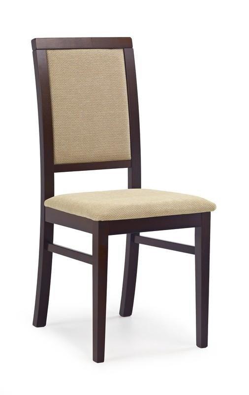 Krzesło SYLWEK1 ciemny orzech/torent beige