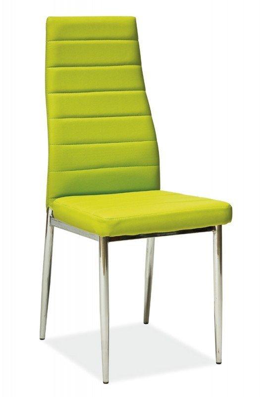 Krzesło H261 zielone/chrom