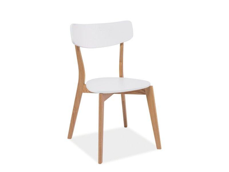 Krzesło MOSSO białe-dąb