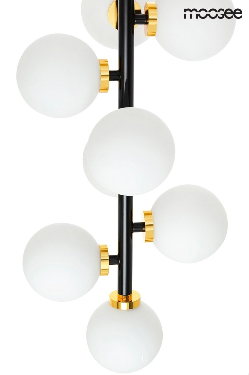 Lampa wisząca COSMO VERTICAL M czarno-złota