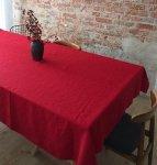 Obrus SIMPLE 150x150 czerwony