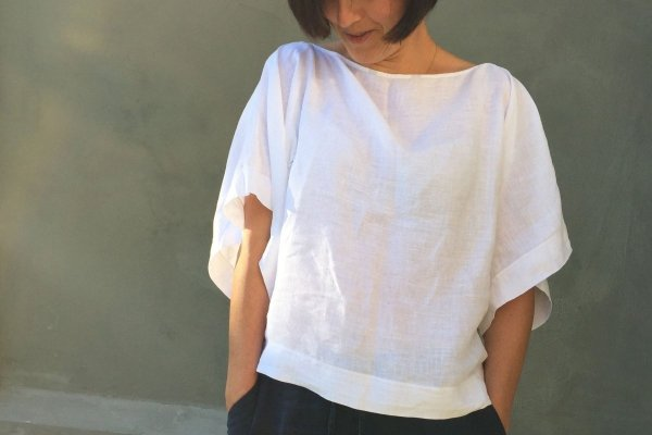 lniana bluzka KIMONO