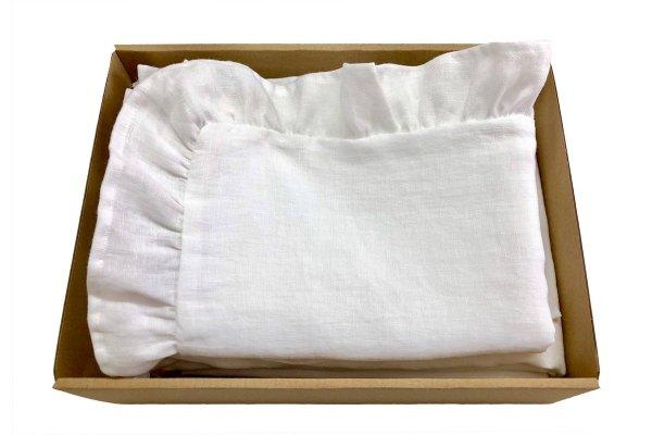 pościel z lnu biała