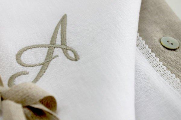 lniana pościel z monogramem