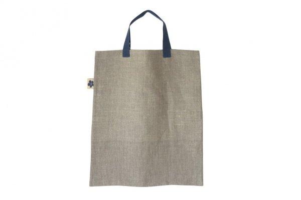 Torba lniana na zakupy (indygo)