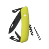 Scyzoryk SWIZA D03 ALLBLACK Żółty GRAWER NA OSTRZU GRATIS !
