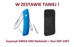 Scyzoryk SWIZA D02 Niebieski KNI.0020.1030 + Etui XSP.1007