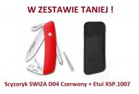 Scyzoryk SWIZA D04 Czerwony KNI.0040.1000 + Etui XSP.1007