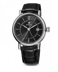 zegarek damski ALZA GMT, SST, black, black WAT.0142.1003