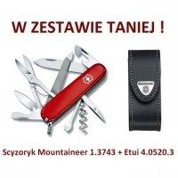 Victorinox Scyzoryk Mountaineer 1.3743 + Etui 4.0520.3