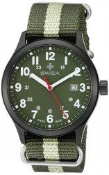 zegarek SWIZA Kretos Gent SST black-olive-green WAT.0251.1102