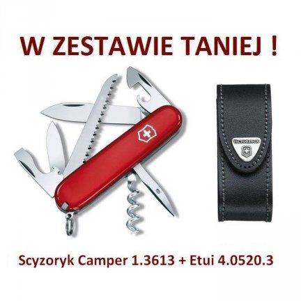 Victorinox Scyzoryk Camper 1.3613 w zestawie z etui