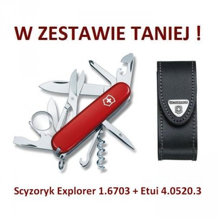 Victorinox Scyzoryk Explorer 1.6703 + Etui 4.0520.3