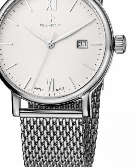 Zegarek damski ALZA Gent, SST, white, mesh WAT.0141.1003