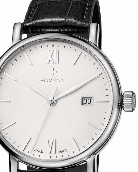 Zegarek SWIZA Alza Gent SST white-black WAT.0141.1002