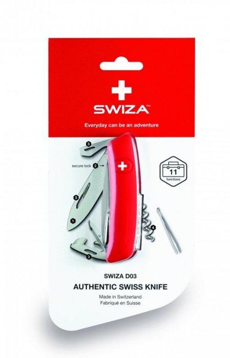 Scyzoryk SWIZA D03 Biały blister GRAWER NA OSTRZU GRATIS !