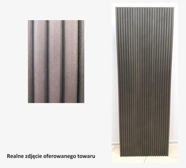 Grzejnik Projectclima ONDATONDA 1800x600 CZARNY VESUVIO + reling na ręcznik moc 1365W